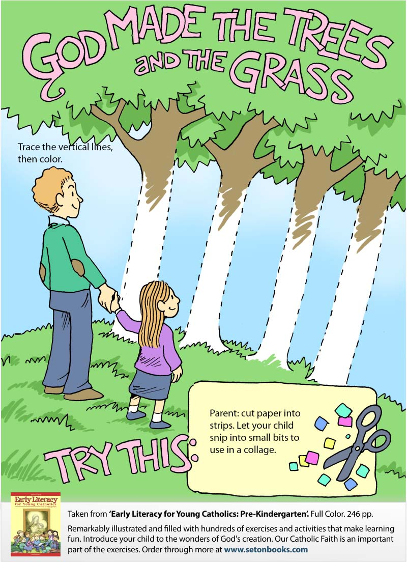 God\'s Trees Color-In