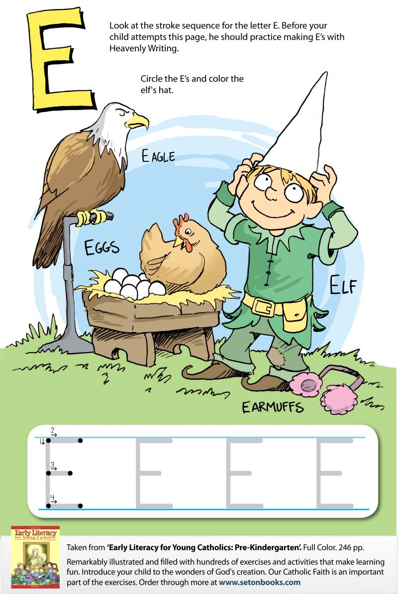 Elfs and Eagles Color-In