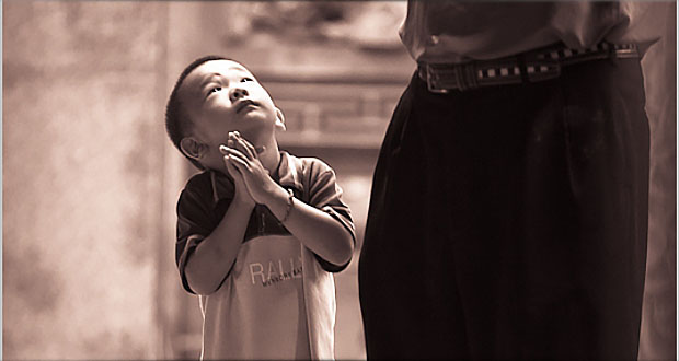 Child Praying - Suffer the Little Children