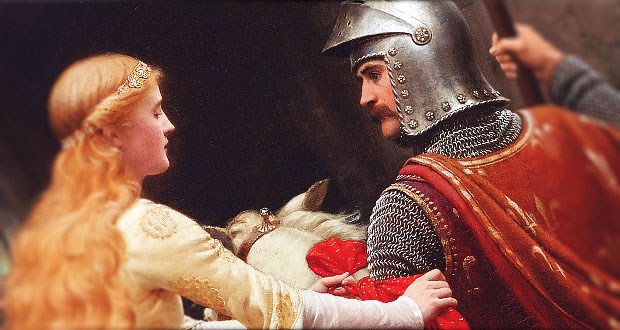The Secret Ingredient to Bliss: A Story from King Arthur's Round Table - Edmund Blair Leighton 'Farewell'