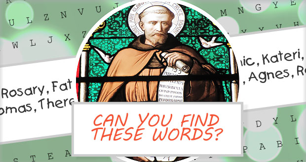 Saints and Sacred Word Puzzle