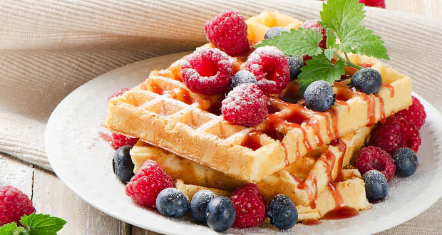 waffle with berries - Why We Should Sit at the Kids' Table