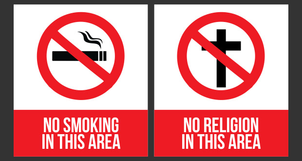 Smoking and Religion: Two Things You Can't Do in Public