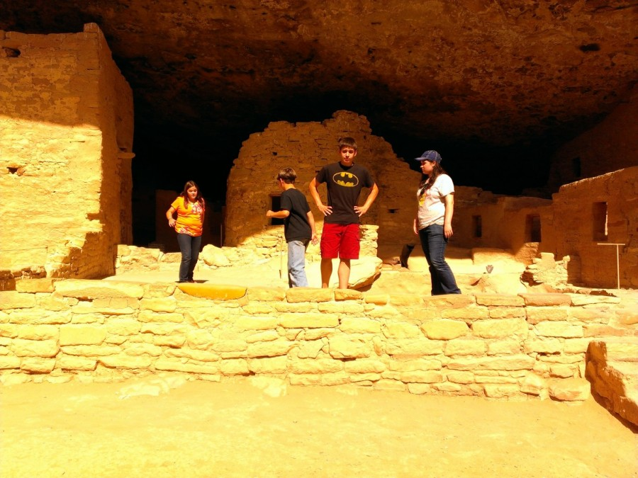 At the ancient cliff dwellings in Mesa Verde National Park