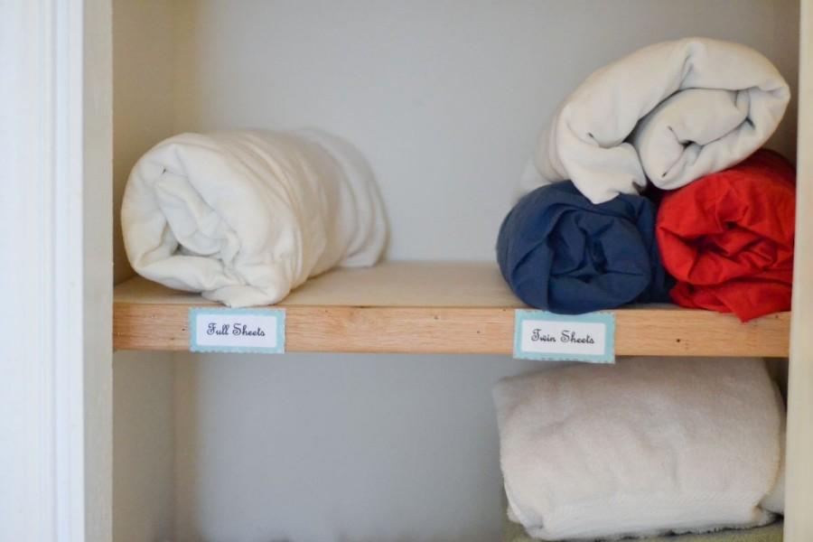 bedsheet shelf