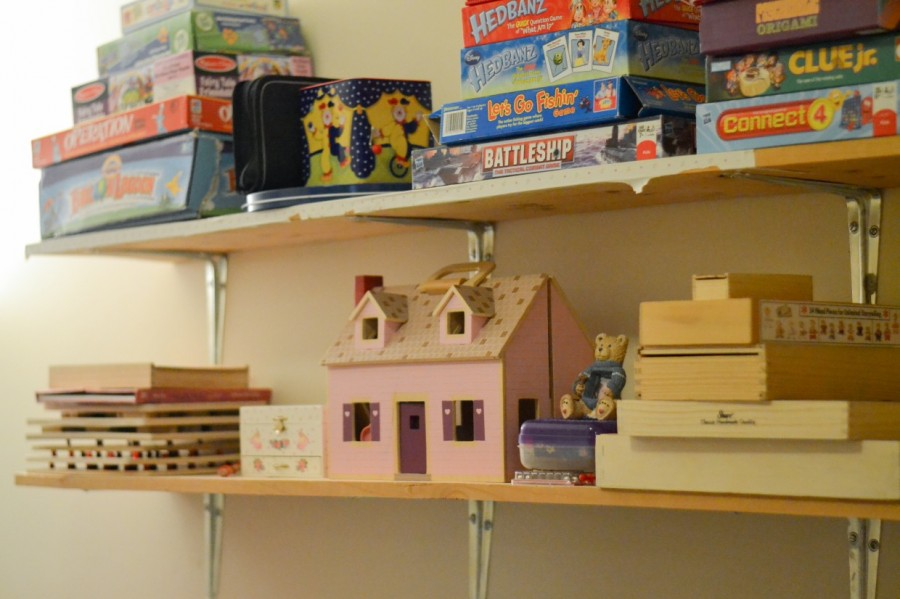 Shelves with Games and puzzles