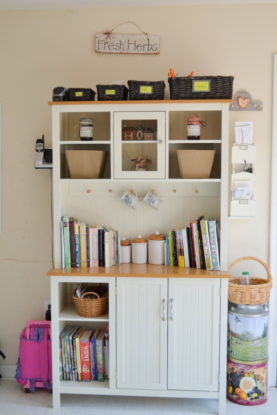Summer Simplification: - Abby Sasscer |Bakers Rack with Closed Doors
