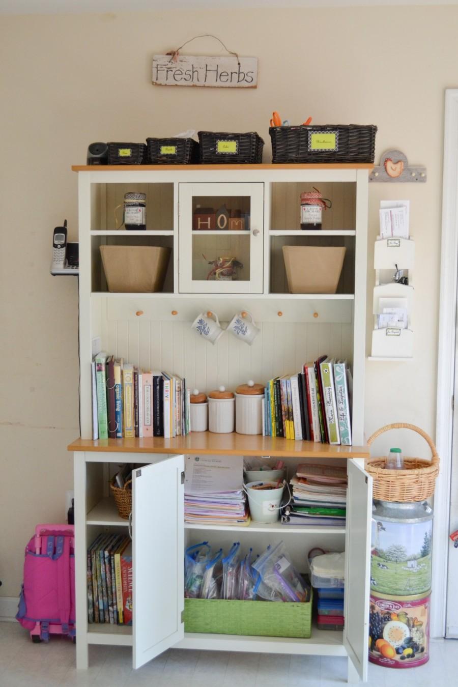 Summer Simplification: - Abby Sasscer |Bakers Rack with Open Doors