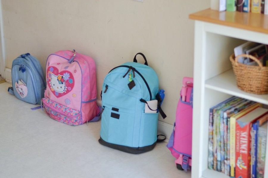 Summer Simplification: - Abby Sasscer | Backpacks Lined Up