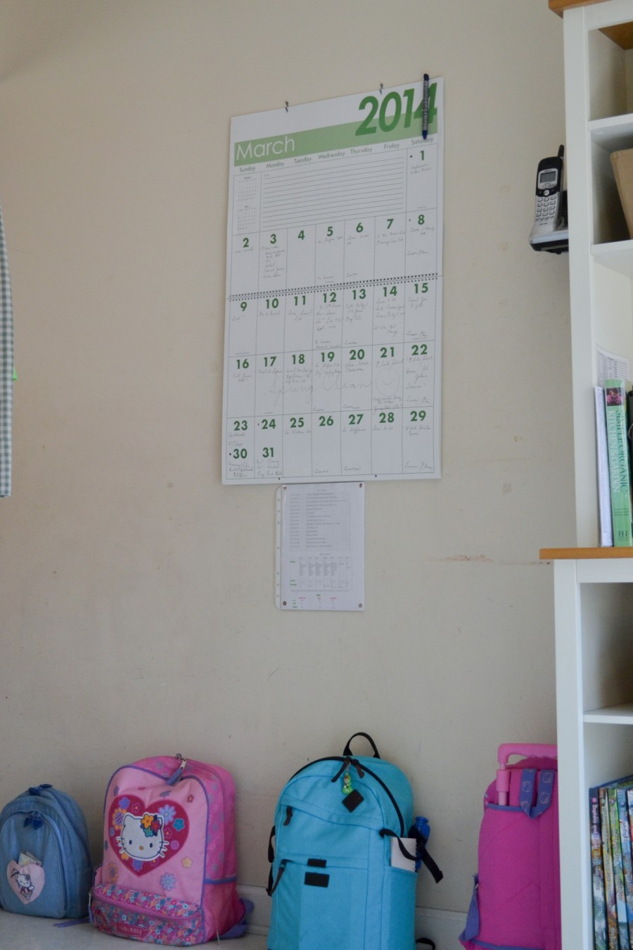Summer Simplification: - Abby Sasscer | Basket with Big Calendar