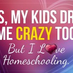 Yes, My Kids Drive Me Crazy Too! But I Love Homeschooling. - by Malia Lewis