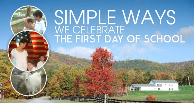 Simple Ways We Celebrate The First Day of School - by Abby Sasscer