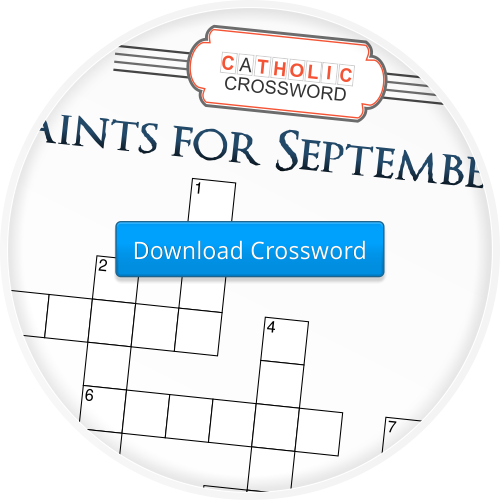 2014-7 Saints for September Crossword