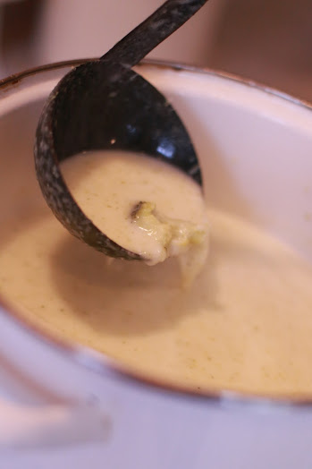 Easy Cream of Broccoli Soup Recipe - Simple Kitchen Series!   by Abby Sasscer - Stirring to Show Consistency