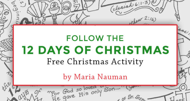 Follow the 12 Days of Christmas! Free Christmas Activity