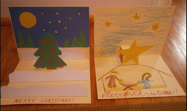 """Christmas cards for an elderly care facility."""