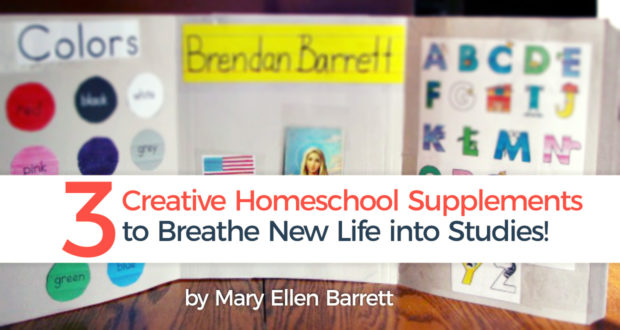 3 Creative Homeschool Supplements to Breathe New Life into Studies! - by Mary Ellen Barrett
