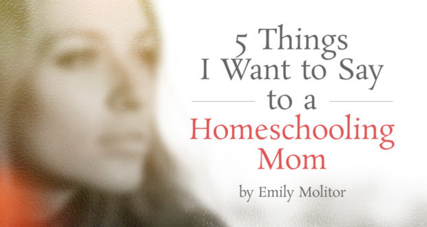 5 Things I Want to Say to a Homeschooling Mom - by Emily Molitor