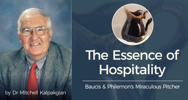 The Essence of Hospitality: Baucis & Philemon's Miraculous Pitcher - by Dr. Mitchell Kalpakgian