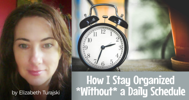 How I Stay Organized *Without* a Daily Schedule - by Elizabeth Turajski
