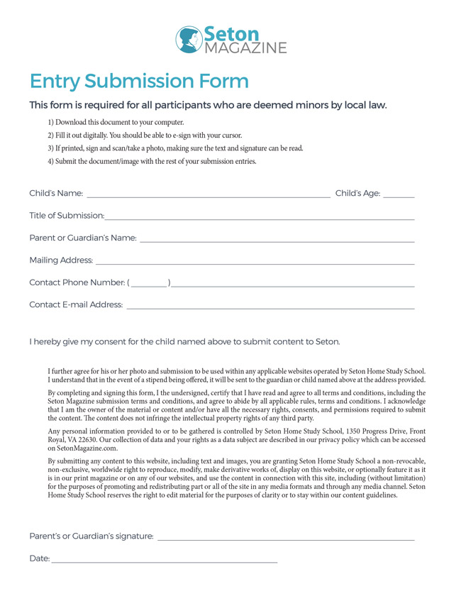Seton Entry Form