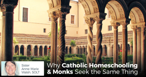 Why Catholic Homeschooling & Monks Seek the Same Thing - Sister Anne Marie Walsh, SOLT