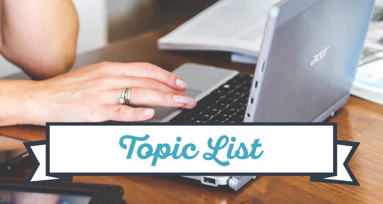 List of Topics for Seton Magazine