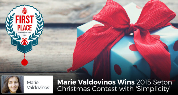Marie Valdovinos Wins 2015 Seton Christmas Contest with 'Simplicity'