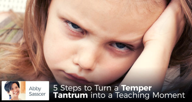 5 Steps to Turn a Temper Tantrum into a Teaching Moment - by Abby Sasscer
