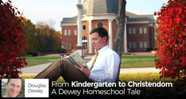 'It's simple: we need Christendom College.' Homeschoolers Douglas and Leni Dewey have10 children, and with Christendom, they keep building Christ's Kingdom. - by Douglas Dewey
