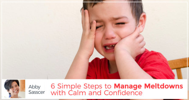 6 Simple Steps to Manage Meltdowns with Calm and Confidence - by Abby Sasscer
