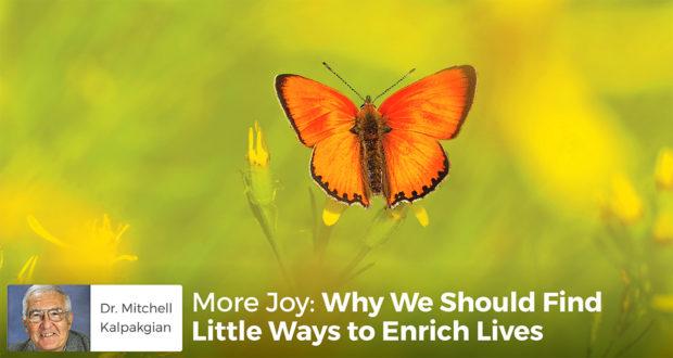 More Joy: Why We Should Find Little Ways to Enrich Lives - Dr. Mitchell Kalpakgian