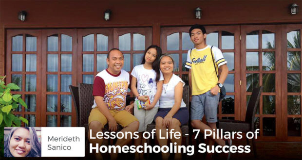 Lessons of Life - 7 Pillars of Homeschooling Success - Merideth Sanico