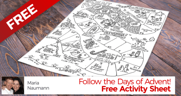 Follow the Days of Advent 2016! Free Printable Advent Activity - Maria Nauman