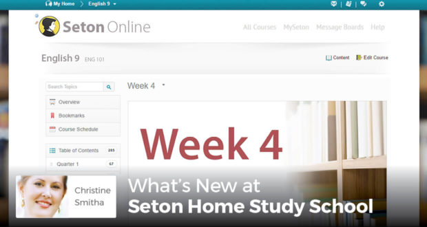 What's New at Seton Home Study School -Christine Smitha