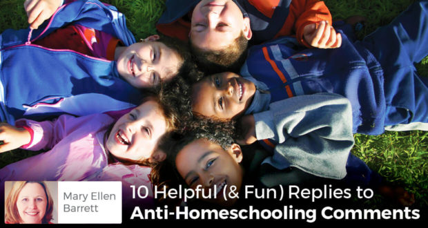 10 Helpful (& Fun) Replies to Anti-Homeschooling Comments - Mary Ellen Barrett