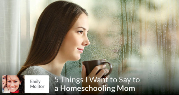 5 Things I Want to Say to a Homeschooling Mom - Emily Molitor